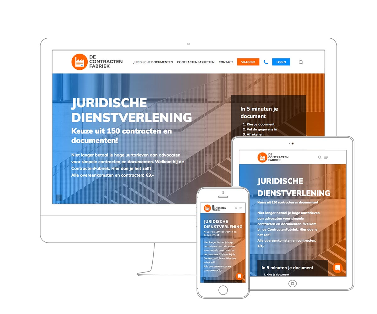 Digital Agency Amsterdam - Qoorts developed the new website for De ContractenFabriek