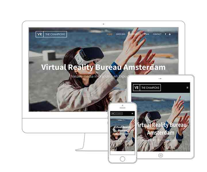 Digital Agency Amsterdam | Qoorts designed and developed the new website for VR The Champions