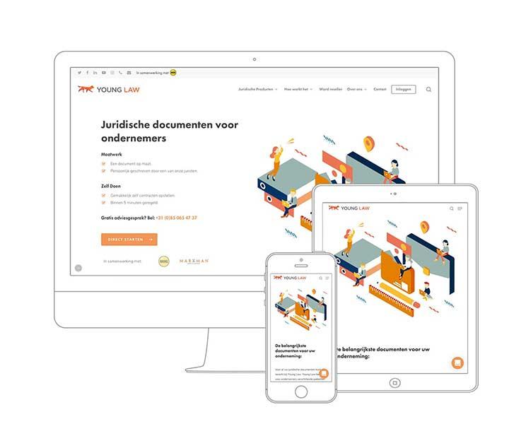 Webdesign Amsterdam - Qoorts ontwikkelde de nieuwe website voor Young Law