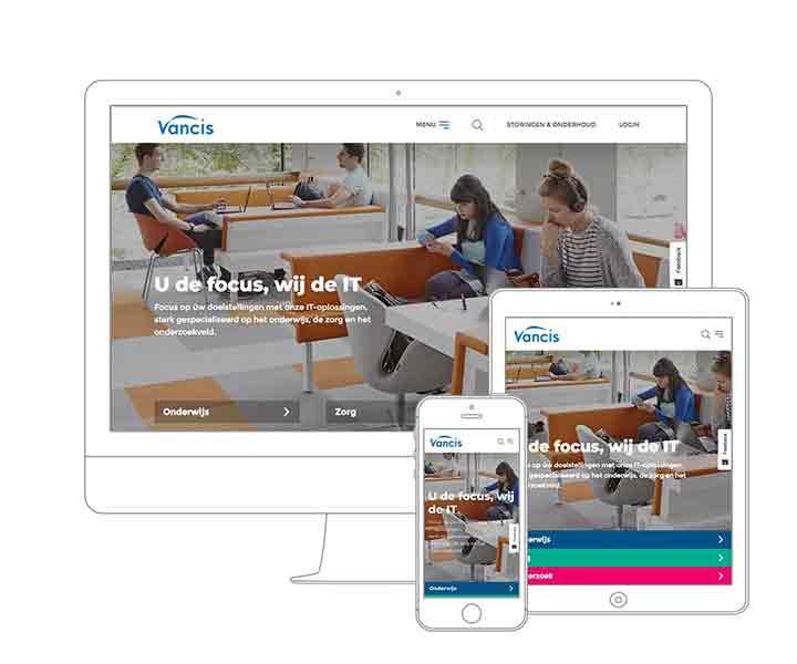 Webdesign Amsterdam - Qoorts ontwikkelde de nieuwe website voor Vancis
