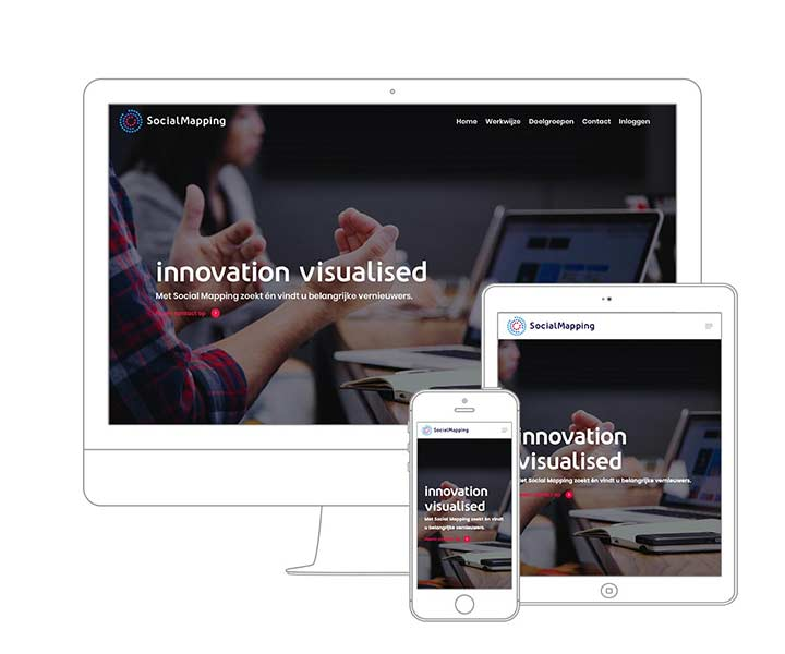 Website laten maken Amsterdam? Qoorts deed het webdesign voor SocialMapping Company